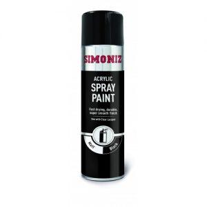SIMP17D_Simoniz Spray Paint Matt Black 500ml-500x500
