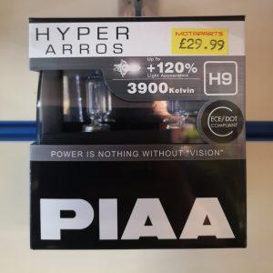 Piaa HE-905 Hyper Arros H9 +120%  Headlight bulbs